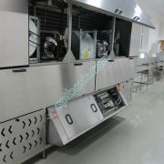 Центральная секция холодильного тунеля в открытом виде для проведения обслуживания