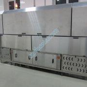 Тонель холодильный, центральная секция с холодильной установкой, осевыми вентиляторами и щитом управления