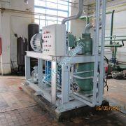 Аммиачный компрессор с системой охлаждения масла и регулированием давления нагнетания